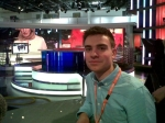 Alex Williams visiting Sky News
