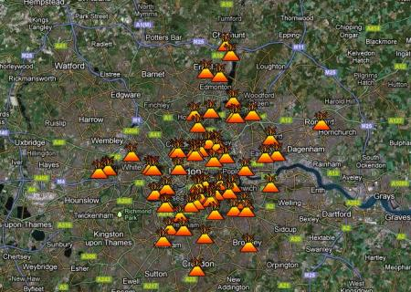 James Cridland London riots map